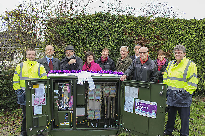 December 2015 celebrating the arrival of Whaddon broadband