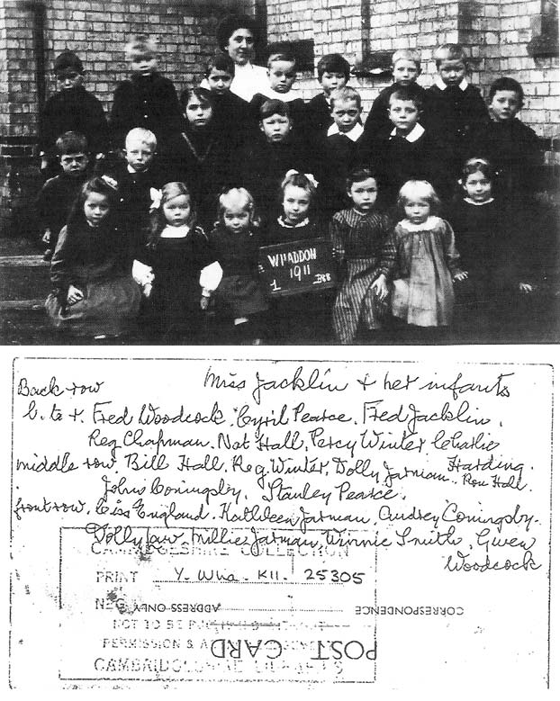 Whaddon school pupils and teacher 1911