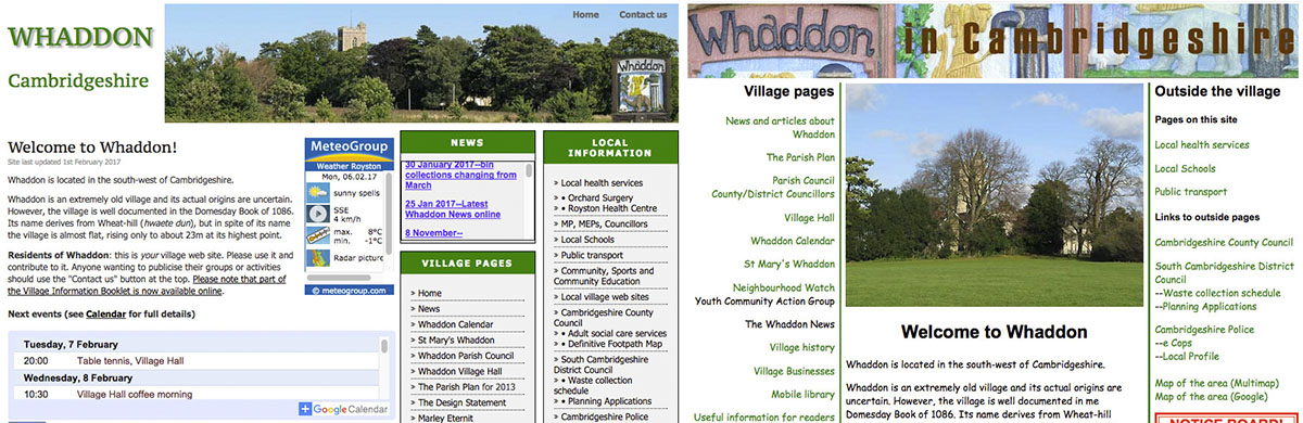 Old Whaddon web sites