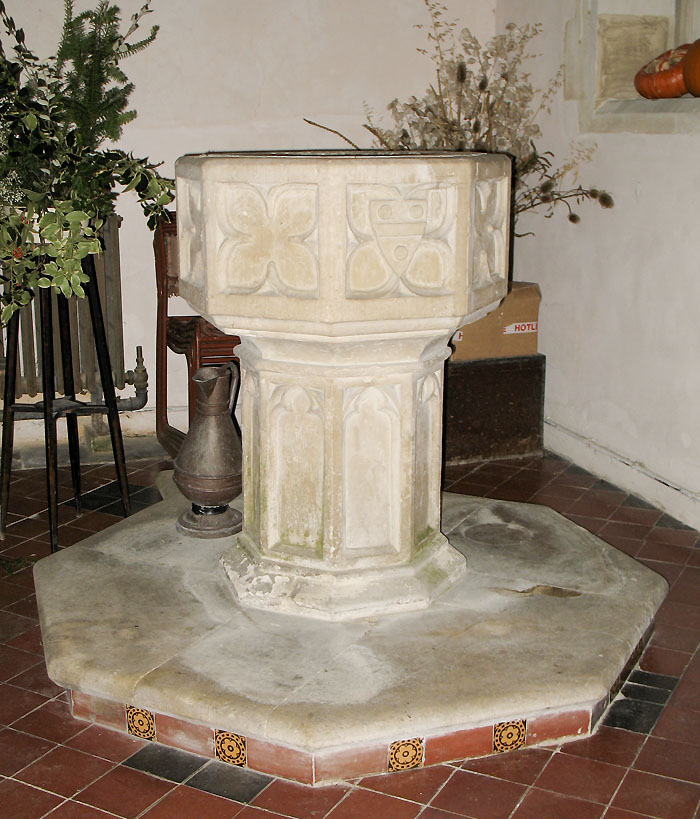 Whaddon St Marys Church Font