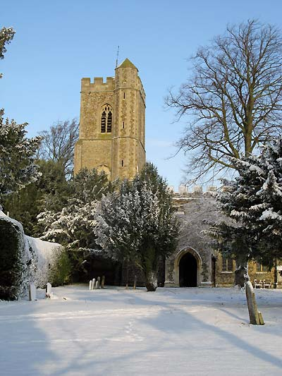 Whaddon St Marys Church winter