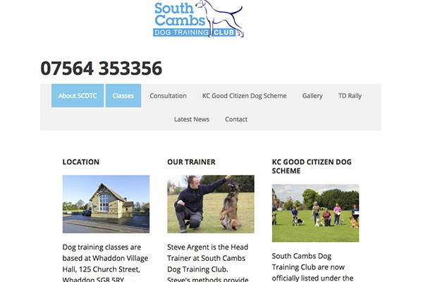 South Cambs Dog Training Club Whaddon