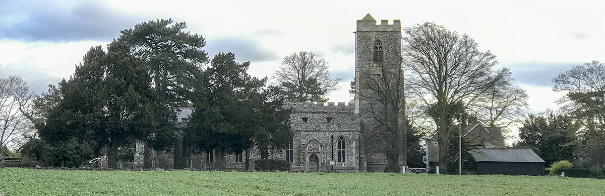 Whaddon St Marys Church from north