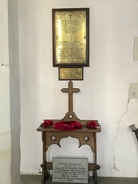Whaddon St Marys Church War memorial 1